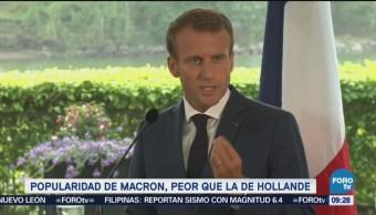 Se Desploma Popularidad De Macron Popularidad Presidente Francés Emmanuel Macron