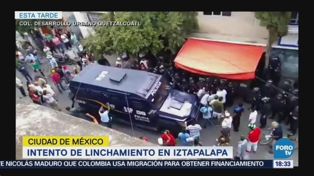 Enfrentan Policías Vecinos Intento Linchamiento Iztapalapav
