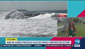 Fenómeno Mar De Fondo Costas Colima Olas