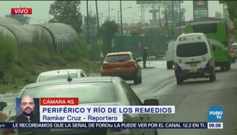 Se inundan Periférico y Río de los Remedios, Nezahualcóyotl