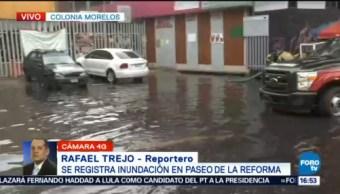 Registran Inundaciones Paseo De La Reforma Lunes Fuerte Lluvia Inundaciones
