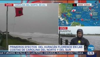 Se registran los primeros efectos del huracán Florence en EU