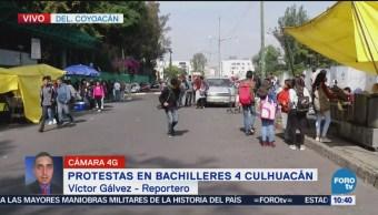 Se retiran manifestantes de Bachilleres 4 Culhuacán
