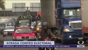 Se retrasa recuento de votos de elección para gobernador