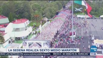 Sedena Realiza Sexto Medio Maratón