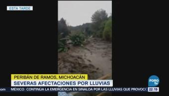 Severas Afectaciones Lluvias Peribán De Ramos Michoacán