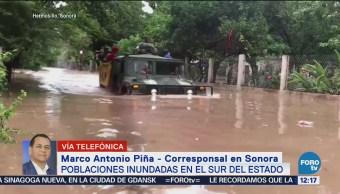 Siguen las inundaciones en el sur de Sonora, hay dos muertos