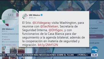 SRE Reunirá Casa Blanca Migración Seguridad