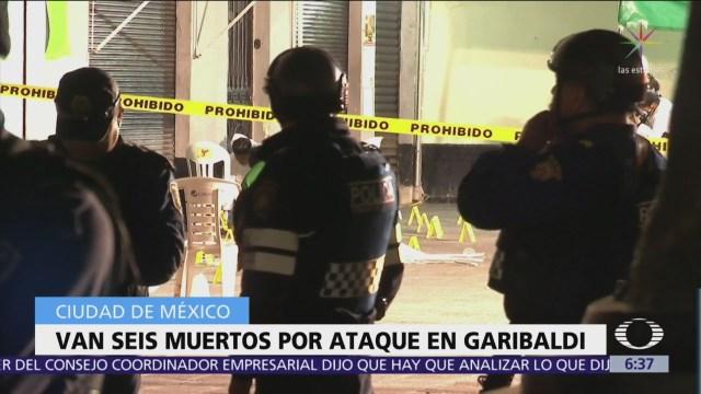 Suman 6 muertos por ataque armado en Plaza Garibaldi