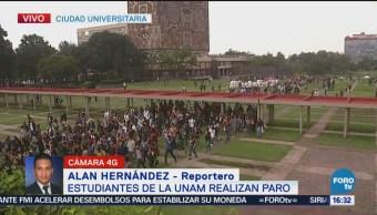 Termina Manifestación Estudiantes Unam