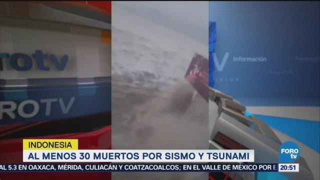 Terremoto Tsunami Indonesia Deja 30 Muertos