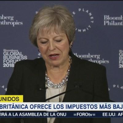 Theresa May ofrece menores impuestos del G20 tras Brexit