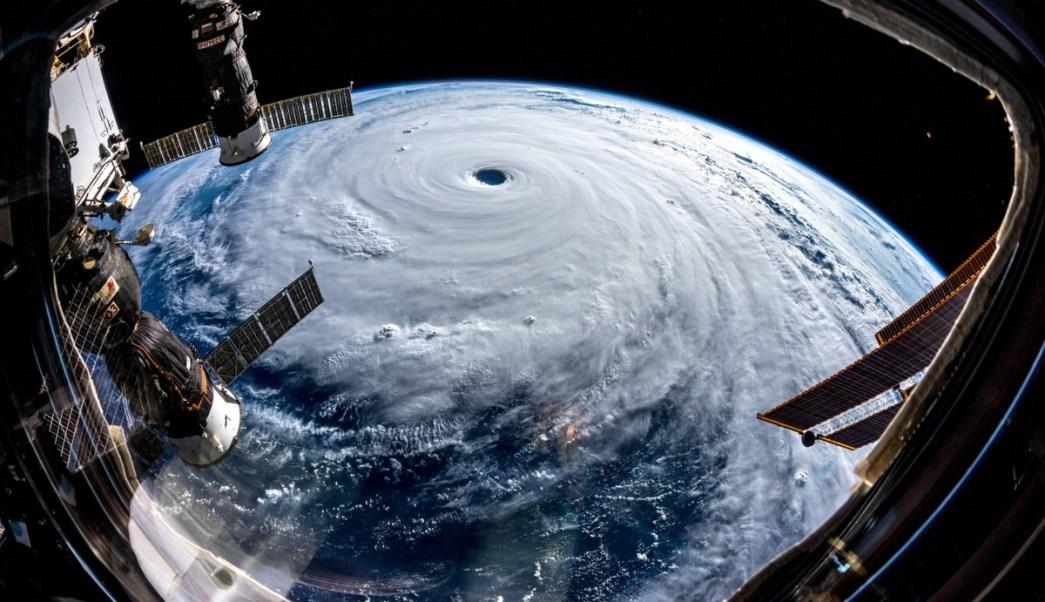 Así se ve desde el espacio el ojo del supertifón 'Trami'