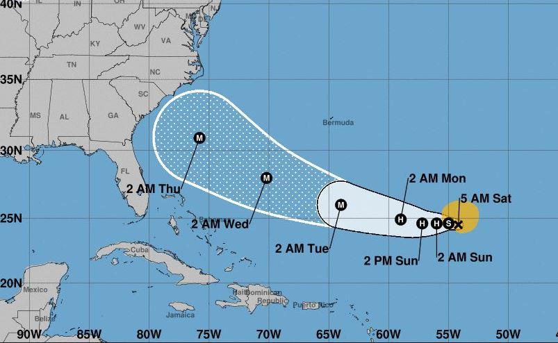 Tormenta tropical 'Florence' será huracán el domingo