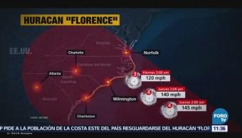 Trayectoria del huracán 'Florence'