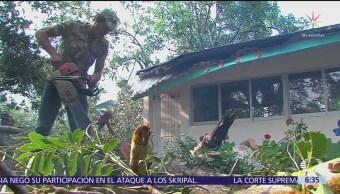 Tromba afecta varias comunidades de Colima