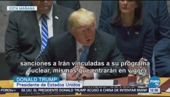 Trump amenaza a Irán con nuevas sanciones