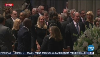 John Mccain Recibe Último Adiós Expresidentes Catedral De Washington