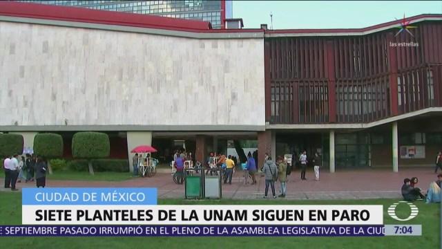 UNAM: 7 planteles siguen en paro por ataque de porros