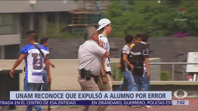 UNAM admite que confundió a alumno con porro agresor de Rectoría