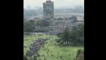 UNAM UAM IPN Marcha Rectoría Asamblea Porriles