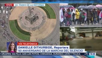Vanguardia marcha estudiantil llega cruce con Insurgentes