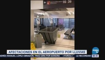 Video Afectaciones Lluvias AICM Aeropuerto CDMX