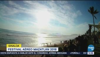 Visitantes disfrutan del Festival Aéreo de Mazatlán 2018