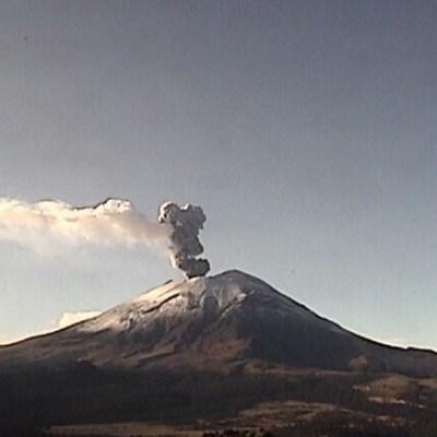 Volcán Popocatépetl registra 196 exhalaciones en 24 horas