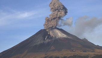 Volcán Popocatépetl presenta actividad eruptiva constante