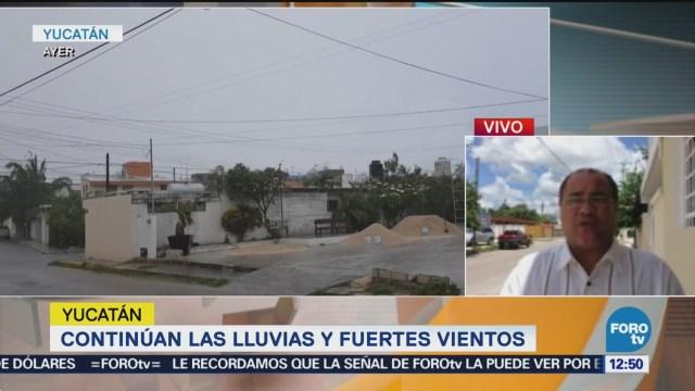 Zona de inestabilidad provoca lluvias y fuertes viento en Yucatán