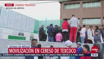 26 internos protestan en Penal de Texcoco