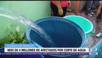 habitantes CDMX serán afectados por corte de agua
