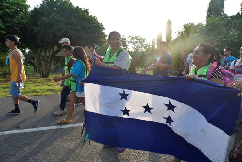 Caravana de migrantes hondureños (EFE)
