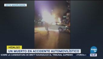 Accidente Automovilístico Deje Muerto Hidalgo