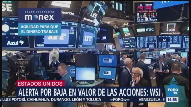 Acciones en Wall Street caen, alerta por alza en bonos
