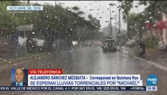 Activan albergues en Quintana Roo ante avance de huracán 'Michael'