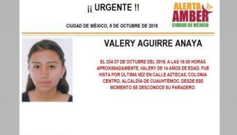 Activan Alerta Amber para localizar a Valery Aguirre