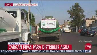 Alcaldía de Iztapalapa prepara pipas para enfrentar corte de agua