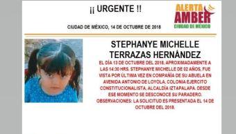 Alerta Amber: Ayuda localizar a Stephanye Michelle Terrazas