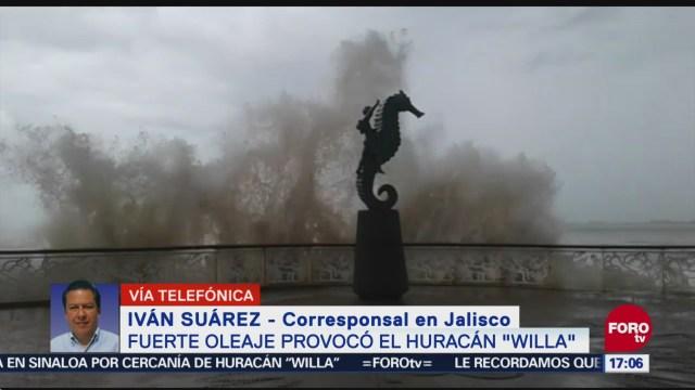 Alerta naranja en Puerto Vallarta, por los efectos de Willa