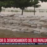 Alerta por desbordamiento del río Papaloapan en Veracruz