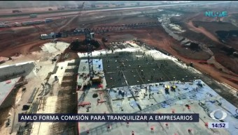 AMLO recibe a contratistas de Texcoco