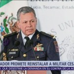 AMLO reinstalará a comandante que dio información a Espriú