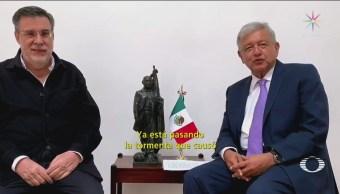 AMLO Se Reúne Contratistas Naim Texcoco CDMX