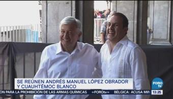 AMLO se reúne con el gobernador de Morelos, Cuauhtémoc Blanco