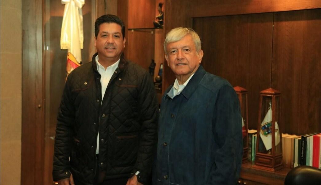 AMLO y gobernador de Tamaulipas sostienen reunión privada