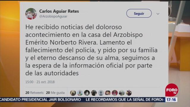 Arzobispo Carlos Aguiar Retes Lamenta Homicidio Casa De Norberto Rivera