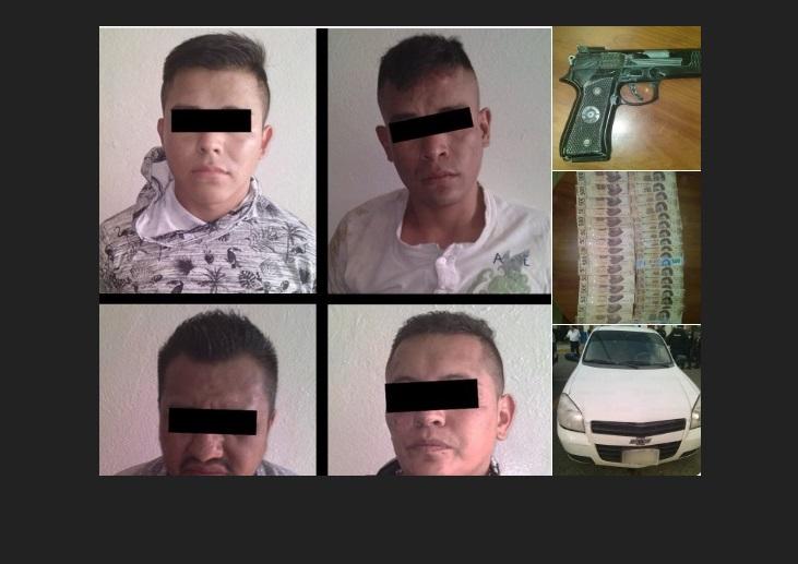 Ixtapaluca: 4 detenidos por robo a cajero