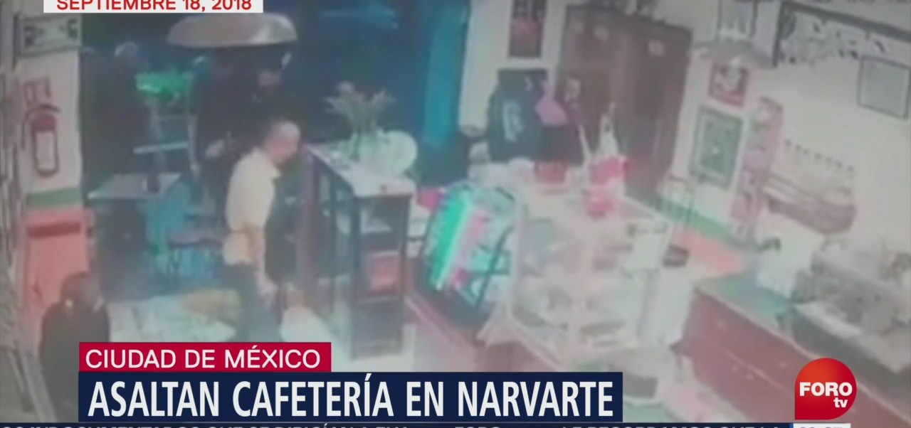 Video Asalto Cafetería Narvarte Cdmx Delincuencia